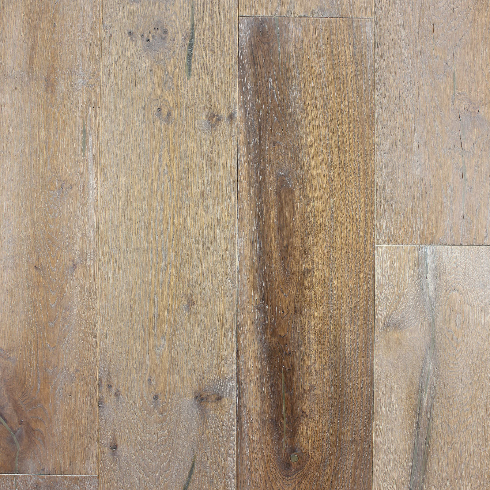 The Wirebrushed Series Oak Olde Grey Engineered Hardwood Flooring